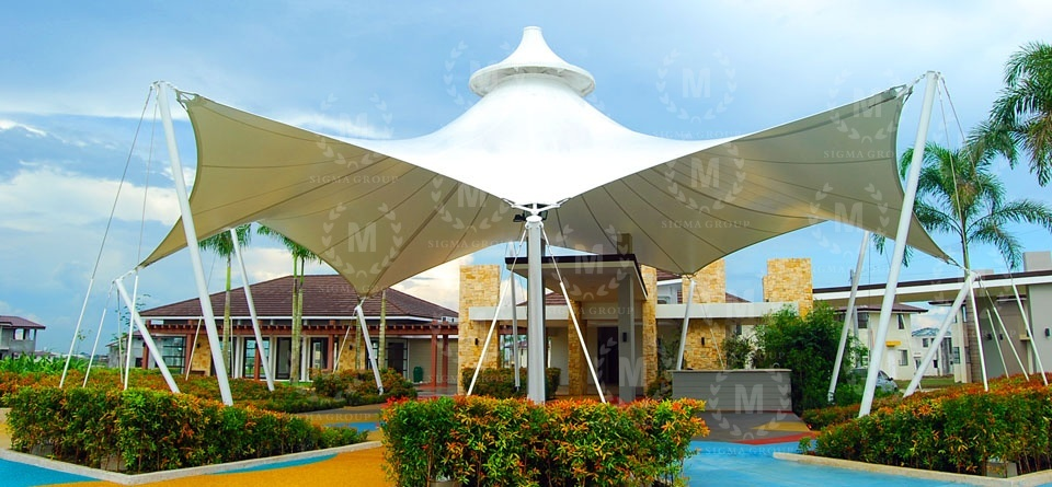 membrane structure,tensile membrane structure,canopy,steel structure,roof canopy
