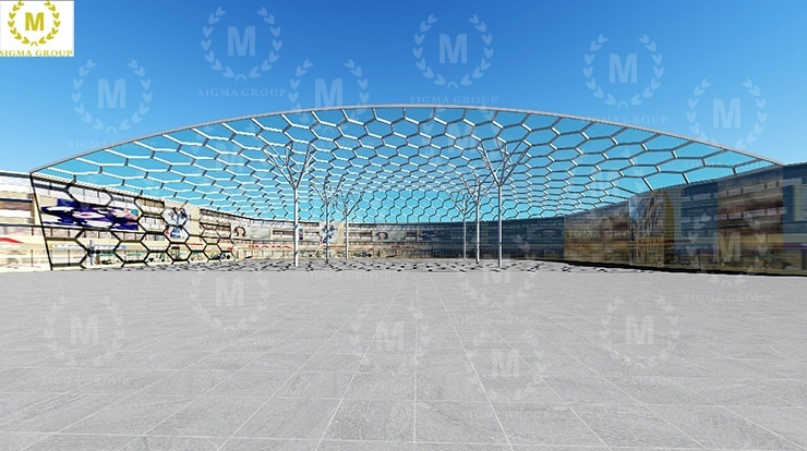 ETFE membrane structure of playground in Guizhou Tongren Middle School